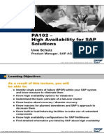 High Availability for SAP Solutions