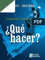 Inseguridad en Lima-Qué Hacer-COSTA y ROMERO, 2010
