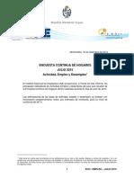 Actividad, Empleo y Desempleo (Julio, 2015)