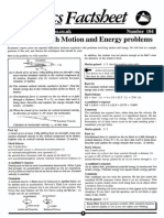 Difficulties With Motion and Energy Problems