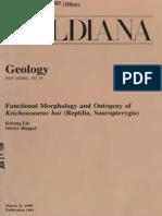 Functional Morphology and Ontogeny of Keichousaurus Hui