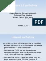 Política 2.0 en Bolivia