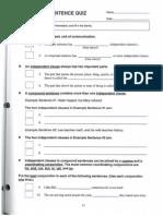 compound sentence quiz p1