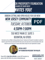 Americans for Prosperity Foundation-New Jersey Open House Flyer