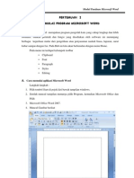 Modul Panduan Microsoft Word