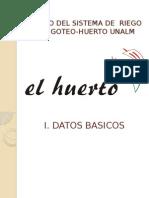 Sistema de Riego Por Goteo_huerto Unalm
