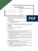 Level II Question Paper