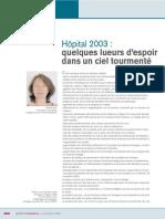 Hôpital 2003