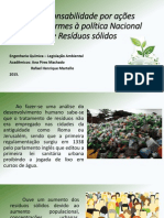 Responsabilidade Ambiental para Resíduos Sólidos