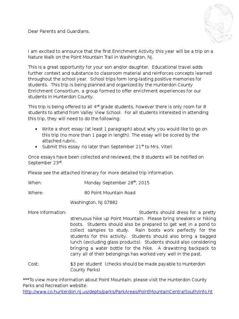Field Trip Parent Letter from imgv2-1-f.scribdassets.com