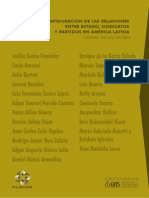 Reconfiguraciones de las relaciones entre estado, sindicatos y partidos en america latina