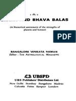 Bhava and Graha Balas - B.v. RAMAN