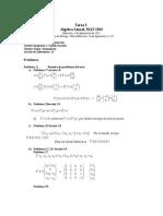 Ejercicios de álgebra lineal Matrices