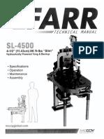 Manual Llave FARR SL4500