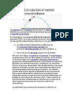 Método de Euler Edo 2º Orden