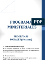 Programas Ministeriales I