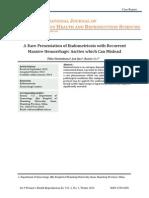 Endometriosis With Hemorrhagic Ascities