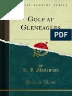 Golf at Gleneagles
