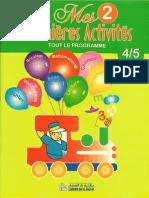 Mes Premières Activités 2 - Tout Le Programme (4-5 Ans)