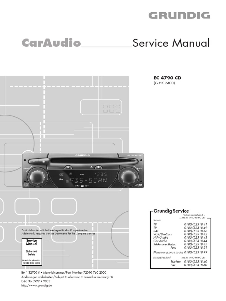 Grundig Ec 4790 Service Manual Digital Fm Stereo Demodulator Circuit Using Ic Saa6579t Electronic
