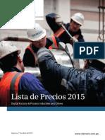 Lista de Precios Siemens VF - Abril 2015