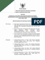 PMK No. 524 Ttg Perubahan Atas Permenkes No 988-MENKES-SK-VIII-2004 Ttg Pencantuman Nama Generik