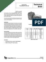 Badger PFT420 Datasheet