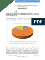 Evolucion de La Inversion en Salud Pública y Politicas Sociales en Mgp 2007-2014