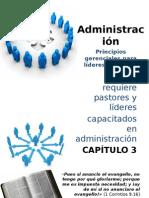 Administración 3. Principios gerenciales para líderes cristianos