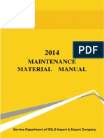 0 2014 Maintenance Material Manual of Export Products