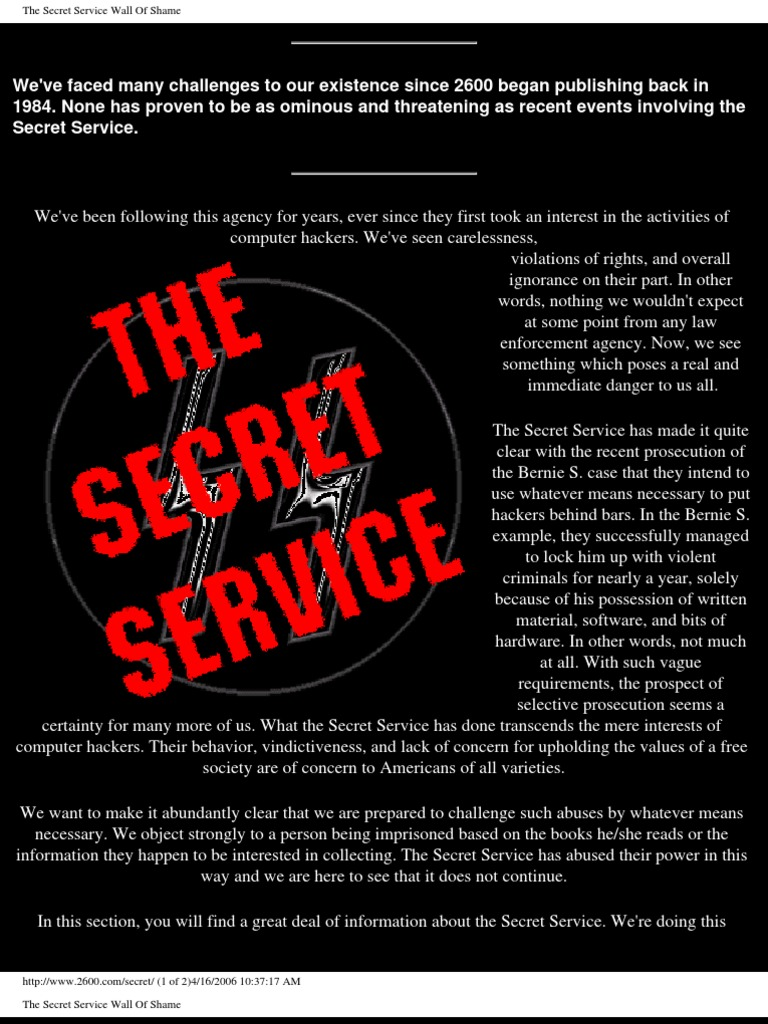 The Secret Service Big Brother Is Watching You Prison Fraud Two Hijack Alarms By 4001