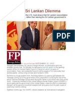 America's Sri Lankan Dilemma