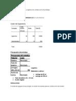 Presupuesto Compra y Logística de Construcción Del Prototipo