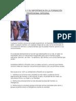 La Filosofia y Su Importancia en La Formación Profesional Integral