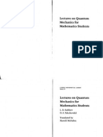 Lectures on Quantum Mechanics for Mathematics Students Student Mathematical Library