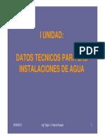 1. Datos Tecnicos Para Instalaciones de Agua