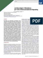 Autism-Associated Neuroligin-3 Mutations Commonly Disrupt Tonic Endocannabinoid Signaling_ Csaba Foldy_ Robert C Malenka_ Thomas C Sudhof_ Neuron 2013