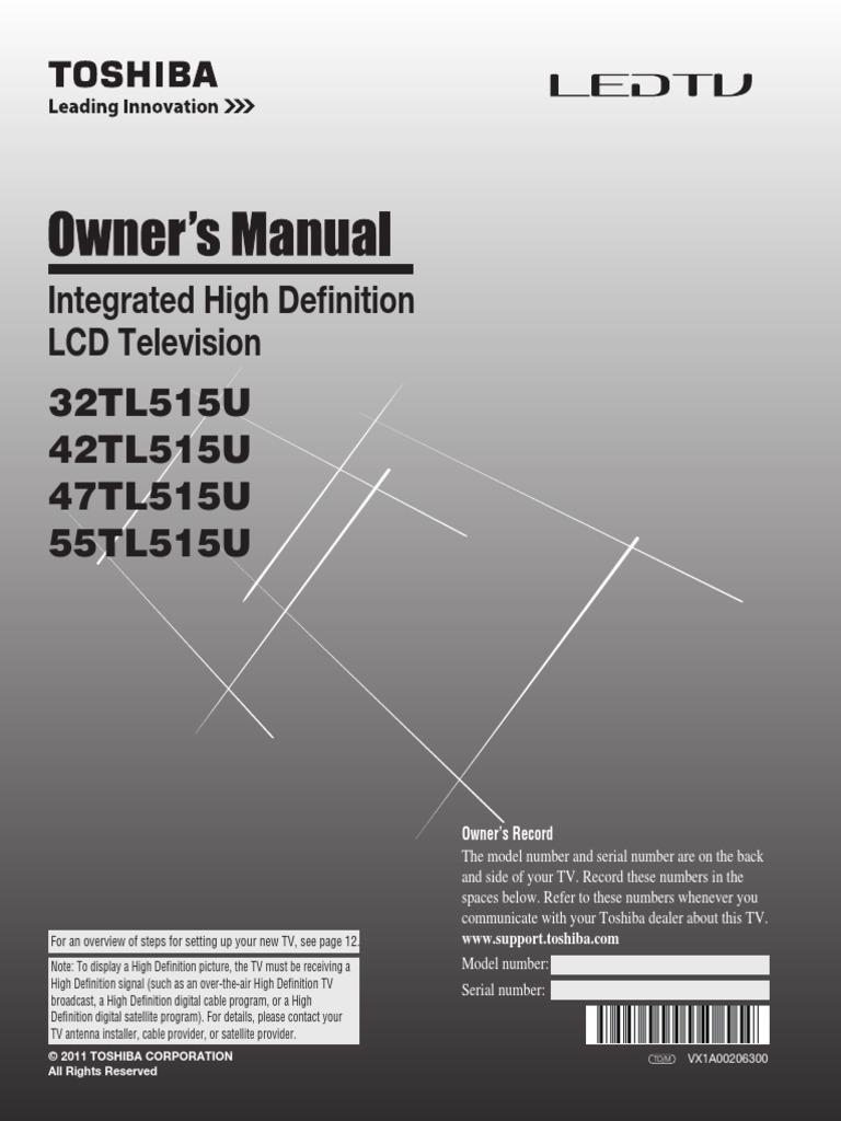 manual toshiba 32tl515u hdmi stereoscopy rh scribd com toshiba led tv service manual toshiba led tv service manual pdf