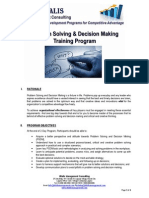 Problem Solving and Decision Making Course Outline