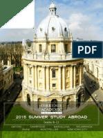 Oxbridge Academic Programs 2015 Brochure