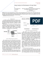 Statistical Static Timing Analysis for Performance of Logic Gates