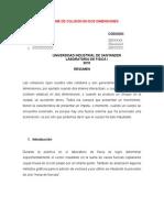 Informe de Colision en Dos Dimensiones