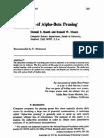 An Analysis of Alpha-Beta Pruning