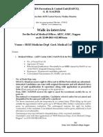 Notification MSACS Medical Officer Posts