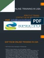Sap Fscm Online Training in Usa