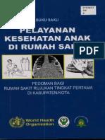 Buku Saku WHO - Pelayanan Kesehatan Anak Di RS
