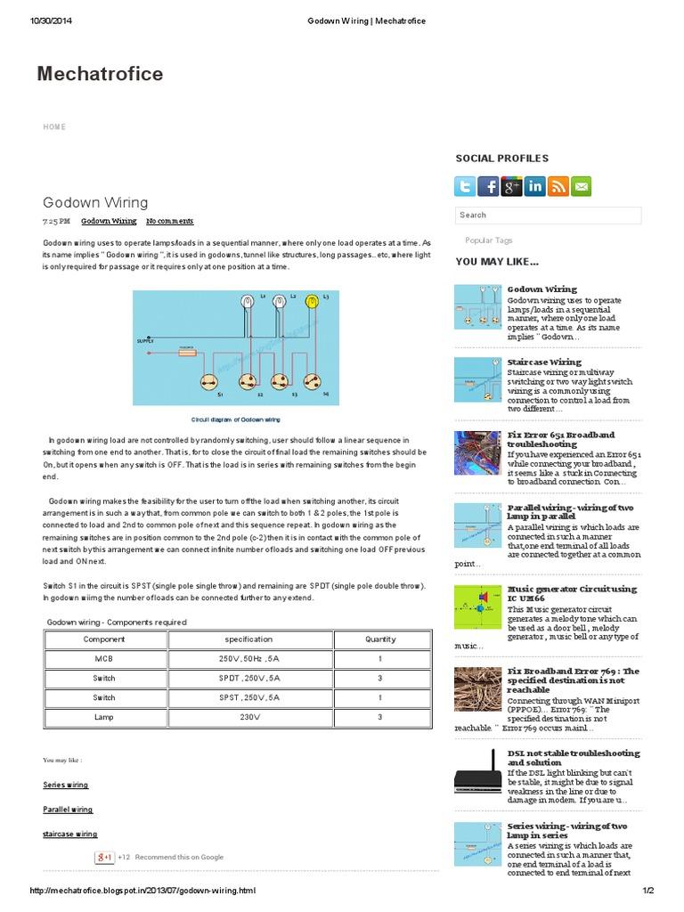 godown wiring mechatrofice switch electrical network rh scribd com godown wiring circuit diagram pdf Lennox Wiring Diagram PDF