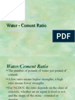 2 Water Cement