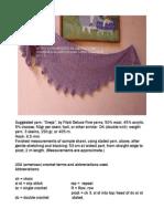 Baktus crochet pattern