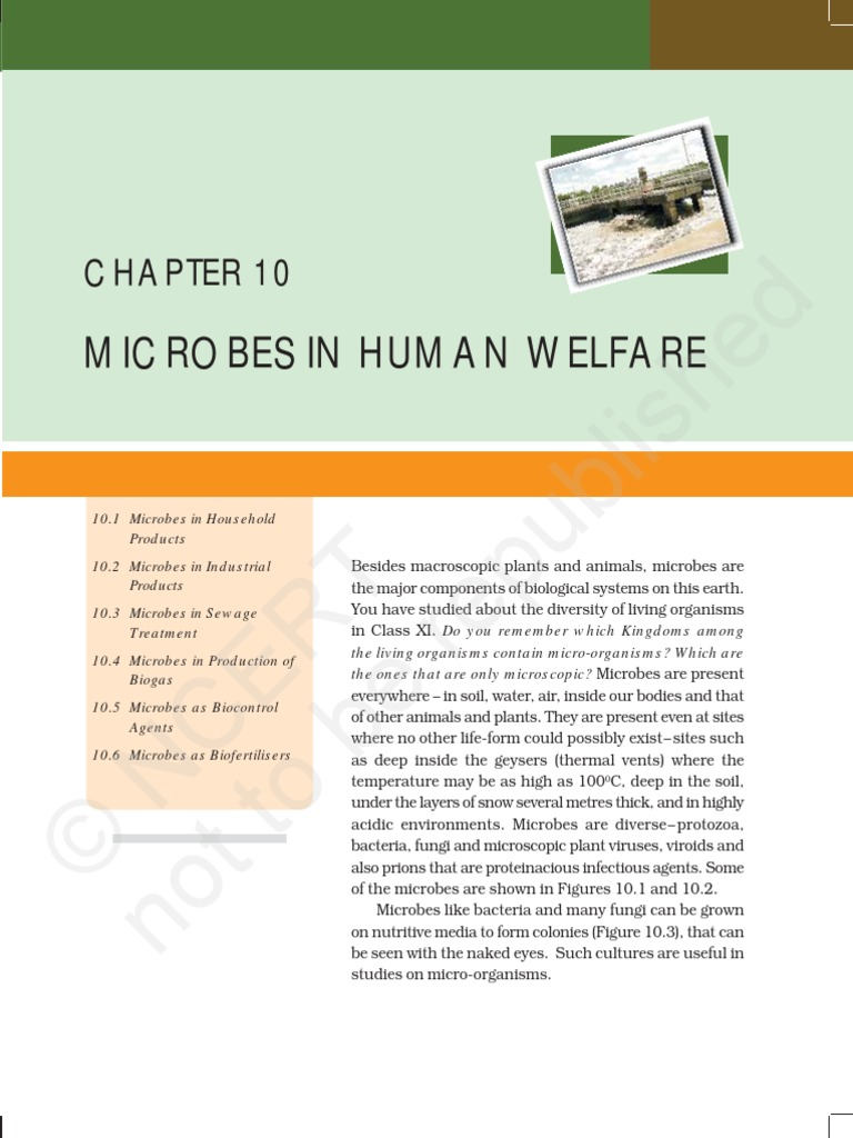 microbes in human welfare pdf | Biological Pest Control | Microorganism